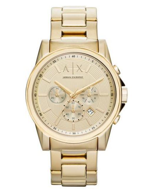 Armani Exchange | Metallic Chronograph Bracelet Watch for Men | Lyst