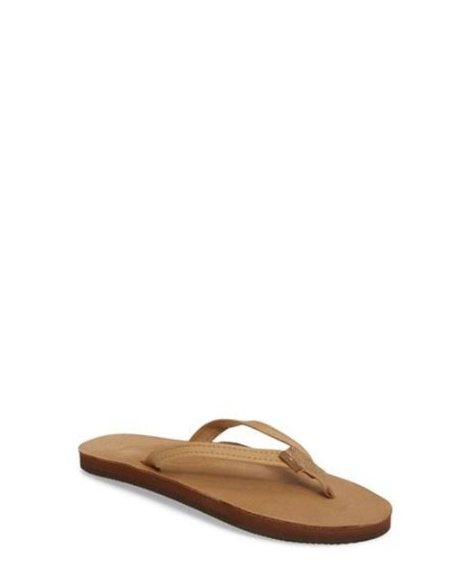 Rainbow Sandals | Brown Narrow Strap Sandal | Lyst
