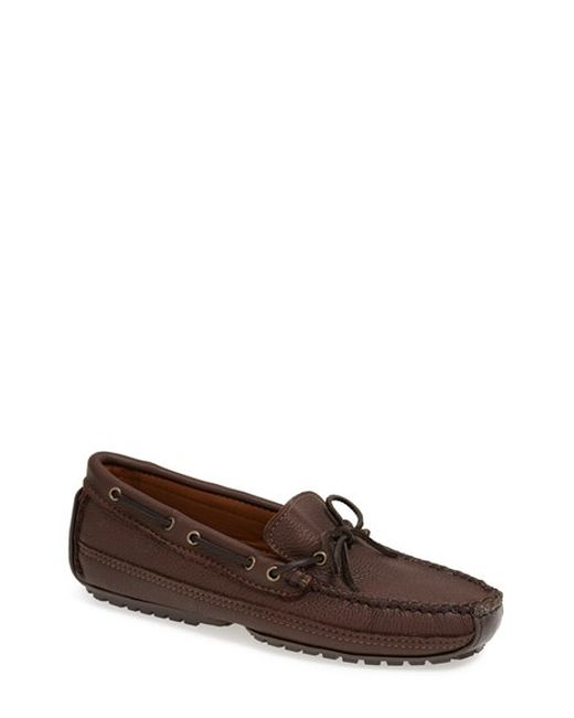 Minnetonka | Brown Moosehide Moccasin for Men | Lyst