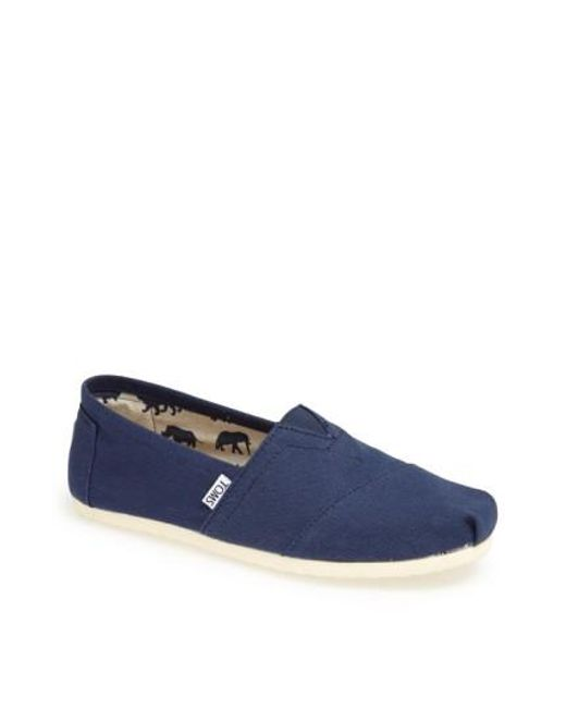 TOMS | Blue 'classic' Canvas Slip-on for Men | Lyst