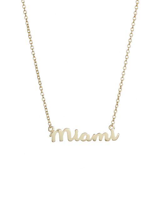 Argento Vivo - Metallic Script Miami Pendant Necklace - Lyst