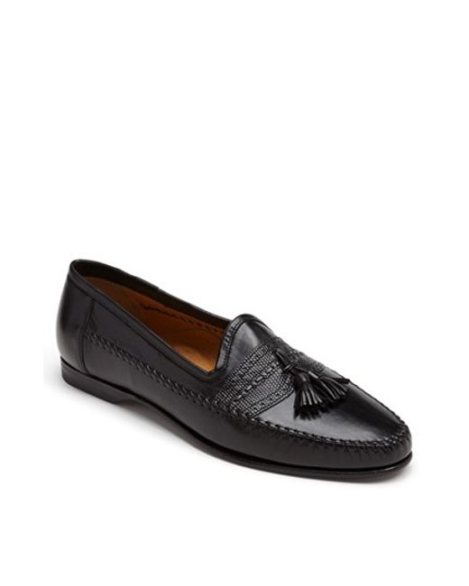 Santoni | Black 'hammon' Loafer for Men | Lyst