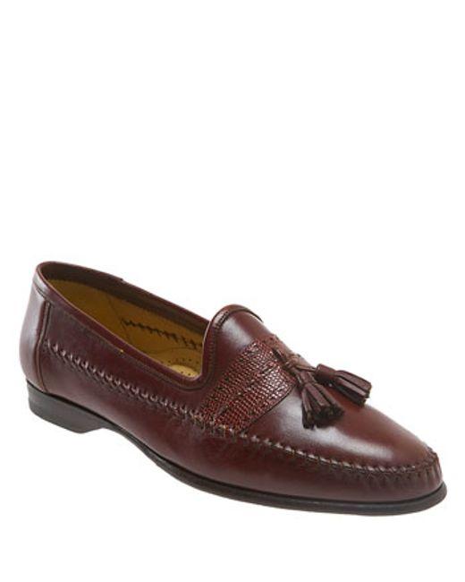 Santoni | Brown 'hammon' Loafer for Men | Lyst