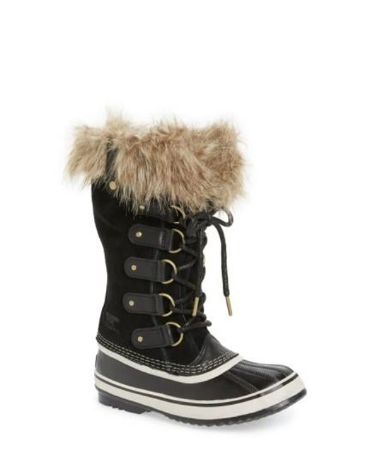 Sorel   Black 'joan Of Arctic' Waterproof Snow Boot   Lyst