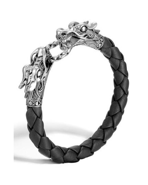 John Hardy - Metallic 'legends' Leather Dragon Bracelet - Lyst