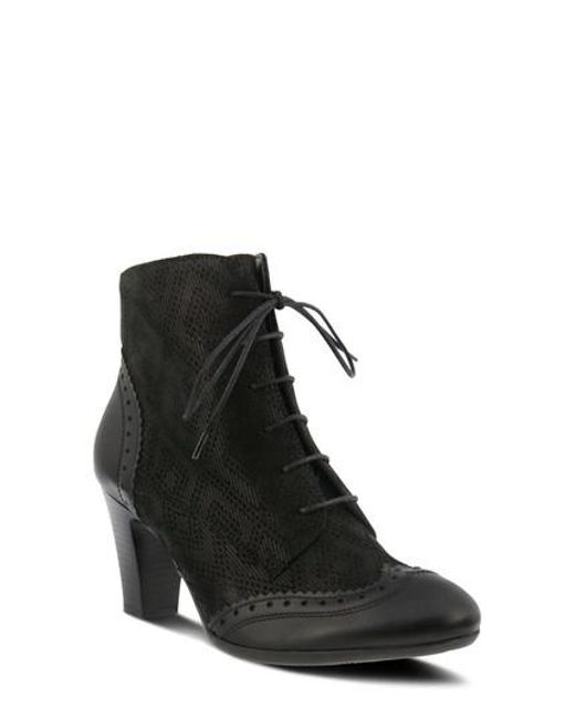 Spring Step | Black Gem Lace-up Bootie | Lyst