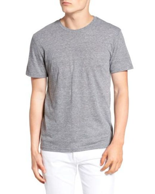 The Rail | Gray Slim Fit Crewneck T-shirt for Men | Lyst