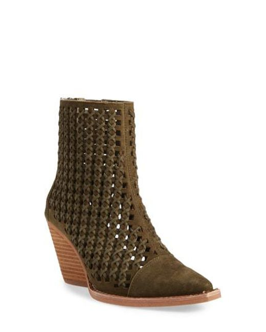 Jeffrey Campbell Women's Oakwood Perforated Bootie tN9HM