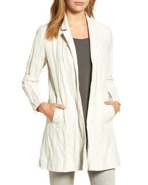 Eileen Fisher   Multicolor Notch Collar Long Jacket   Lyst