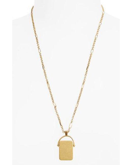Madewell | Metallic Spinning Pendant Necklace | Lyst