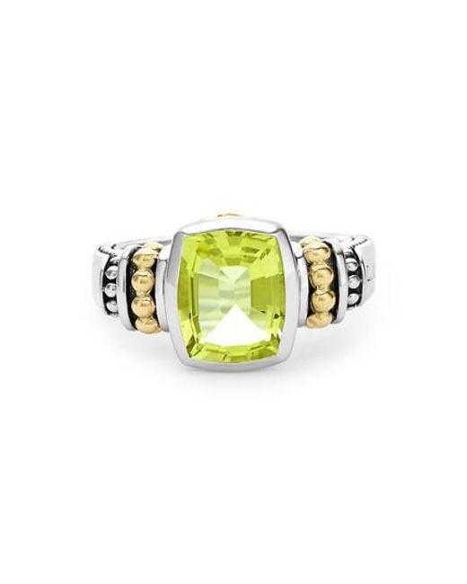 Lagos - Green 'caviar Color' Small Semiprecious Stone Ring - Lyst