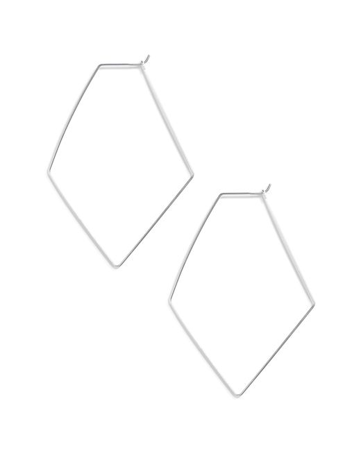 Argento Vivo - Metallic Rhombus Hoop Earrings - Lyst