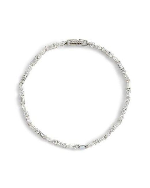 Nadri - Metallic Fanfare Line Bracelet - Lyst