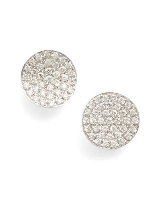 Bony Levy | Metallic Aurelia Diamond Concave Stud Earrings (nordstrom Exclusive) | Lyst