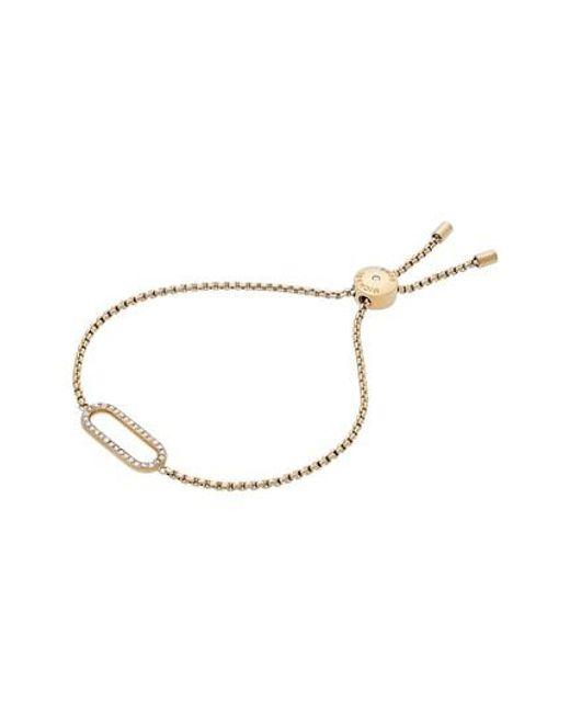 Michael Kors   Metallic Iconic Links Slider Bracelet   Lyst