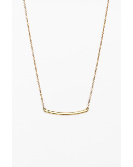Bony Levy Metallic Bar Pendant Necklace (nordstrom Exclusive)