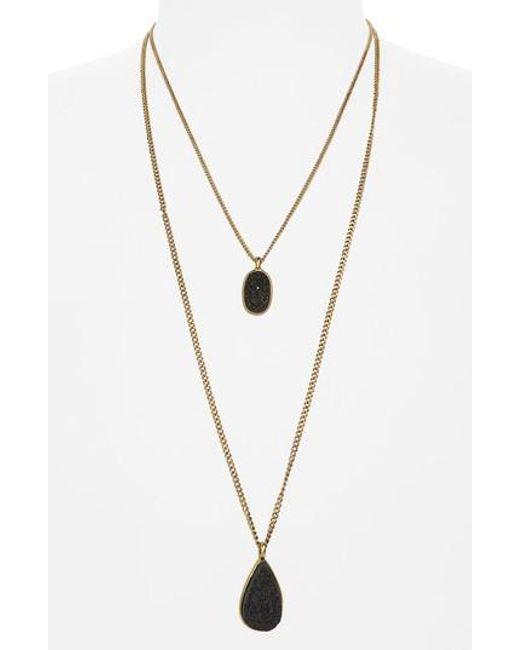 Treasure & Bond | Metallic Multistrand Pendant Necklace | Lyst