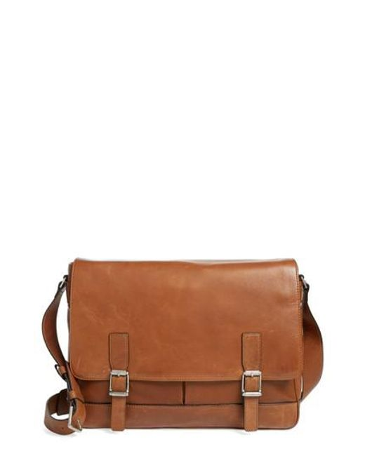 Frye - Brown Oliver Leather Messenger Bag - for Men - Lyst