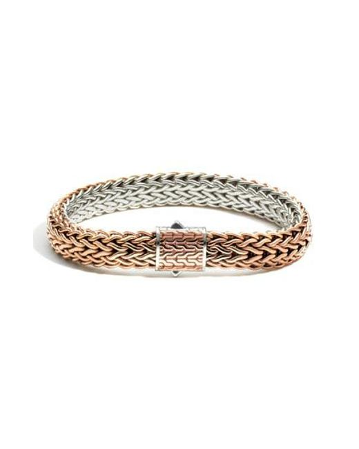 John Hardy - Metallic Classic Chain Flat Chain Reversible Bracelet for Men - Lyst