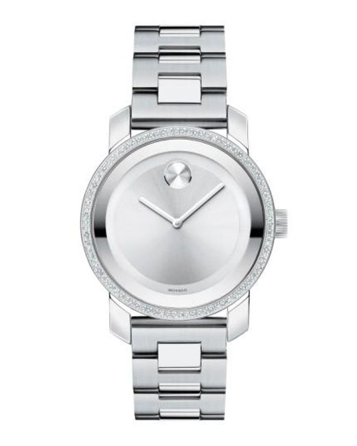 Movado | Metallic 'bold' Diamond Bezel Bracelet Watch | Lyst