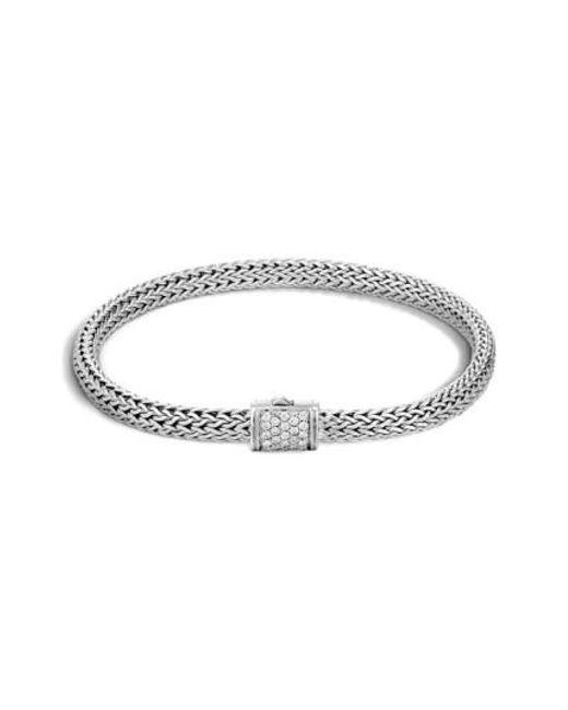 John Hardy - Metallic Classic Chain Diamond Bracelet - Lyst