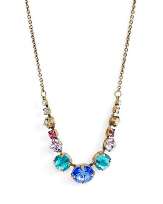 Sorrelli - Metallic Delicate Round Crystal Necklace - Lyst