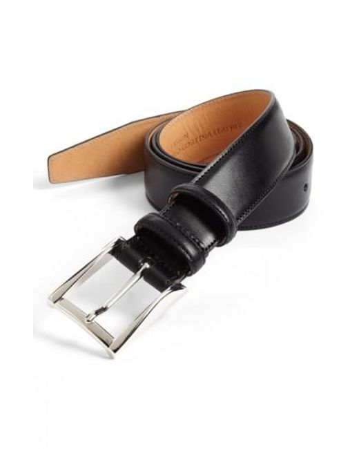 Trafalgar | Black 'easton' Calfskin Belt for Men | Lyst