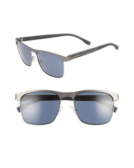 aab618ad52 Lyst - Boss 57mm Rectangle Sunglasses in Gray for Men