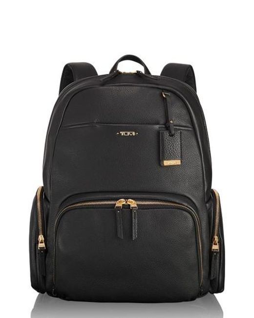 Tumi Black Calais Leather Computer Backpack Lyst