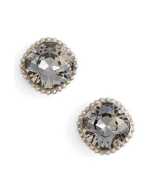 Sorrelli | Black Cushion Cut Solitaire Stud Earrings | Lyst