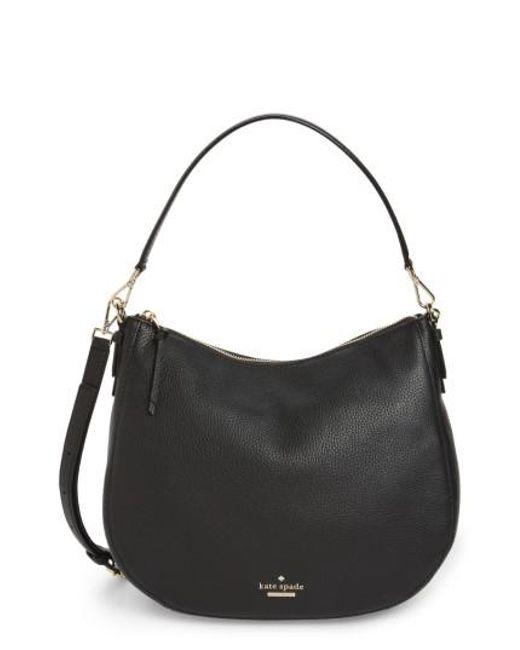 Kate Spade | Black Jackson Street Mylie Leather Hobo Tote Bag | Lyst