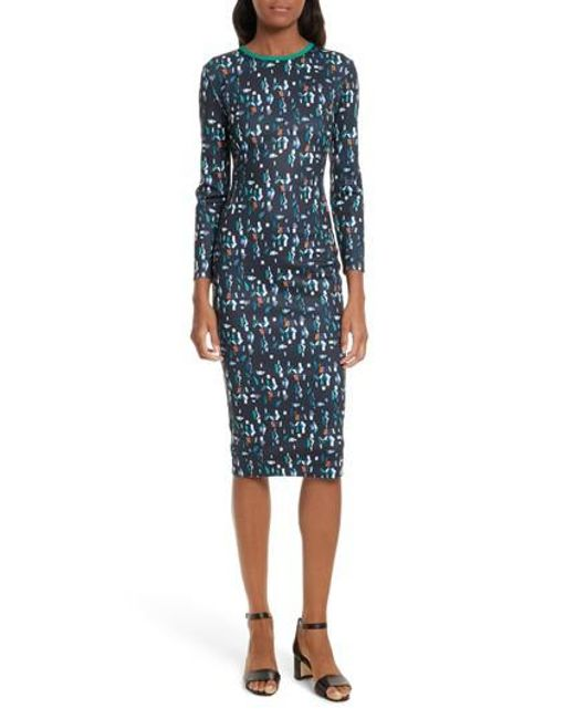 Ted Baker | Blue Kielder Print Body-con Dress | Lyst