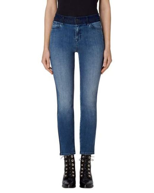 J Brand | Blue Ruby High Waist Crop Skinny Jeans | Lyst