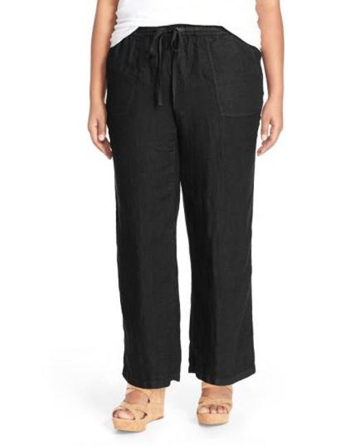 Caslon | Black Caslon Drawstring Linen Pants | Lyst