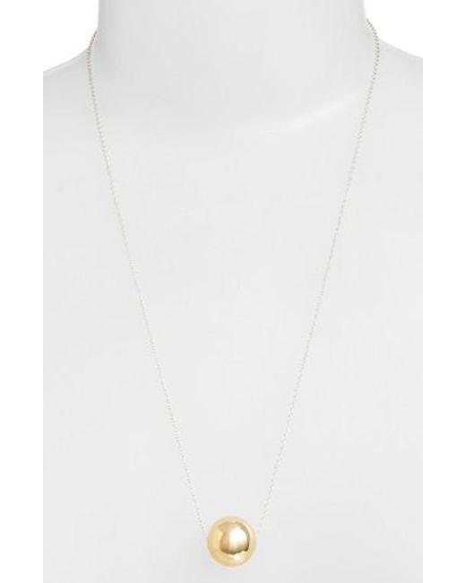 Argento Vivo | Metallic Sphere Pendant Necklace | Lyst