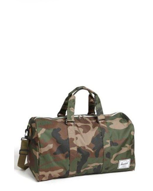 Herschel Supply Co. - Green 'novel' Duffel Bag for Men - Lyst