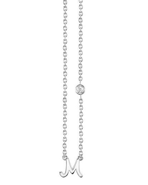 Shy By Sydney Evan | Metallic Diamond Initial Pendant Necklace | Lyst