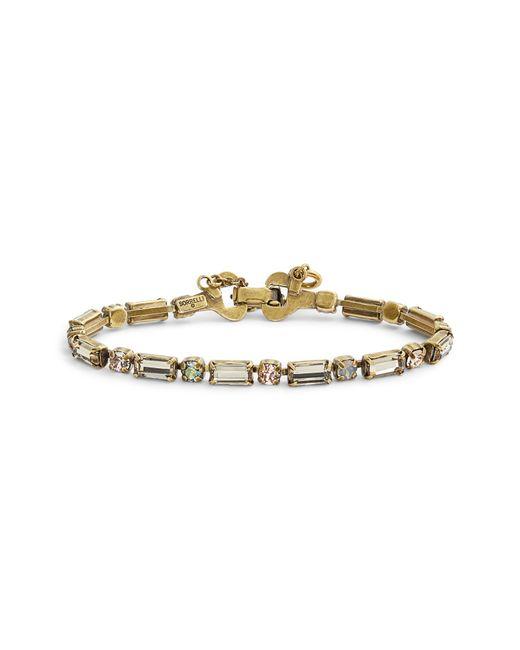 Sorrelli - Natural Line & Dot Crystal Bracelet - Lyst