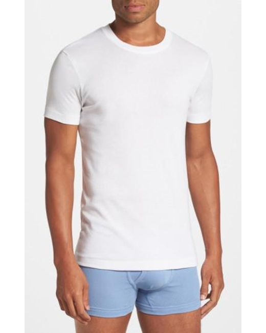 2xist - White Pima Cotton Crewneck T-shirt for Men - Lyst