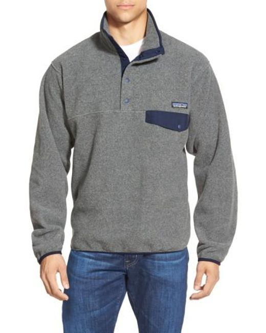 Patagonia | Metallic 'synchilla Snap-t' Fleece Pullover for Men | Lyst