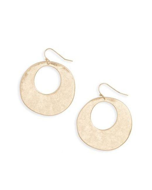 Treasure & Bond - Metallic Hammered Disc Drop Earrings - Lyst