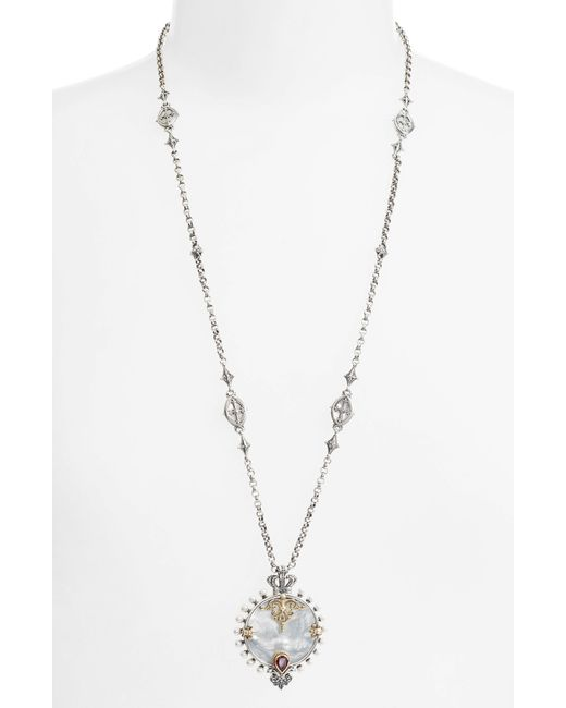Konstantino - Metallic Sterling And Gold Pendant Necklace - Lyst