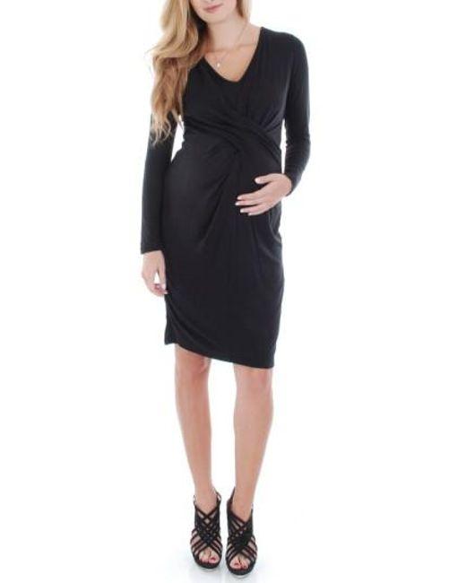 Everly Grey | Black 'sloan' Maternity/nursing Dress | Lyst