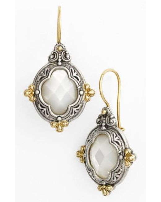 Konstantino | Metallic 'selene' Drop Earrings | Lyst