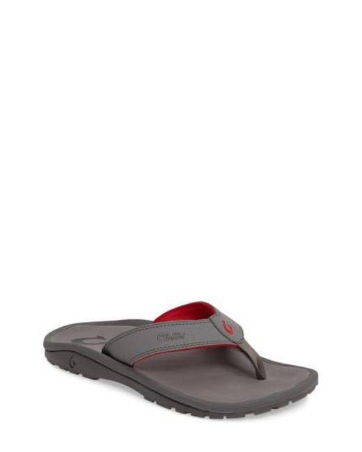 Olukai | Gray 'ohana' Flip Flop for Men | Lyst