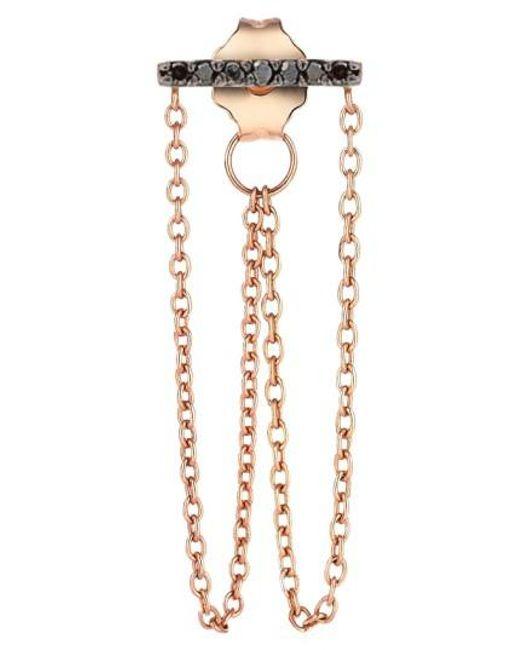 Kismet by Milka | Pink 'lumiere' Diamond Double Chain Drop Earring | Lyst