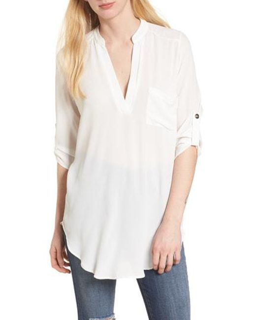 Nordstrom - White Perfect Crepe Tunic Top - Lyst