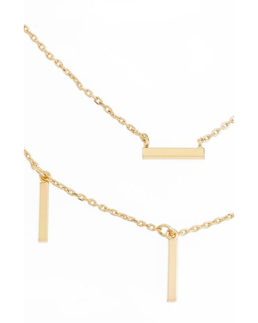 Melinda Maria - Metallic Double Sticks Necklace - Lyst