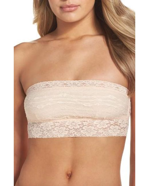 Free People   Black Scalloped Lace Bandeau   Lyst