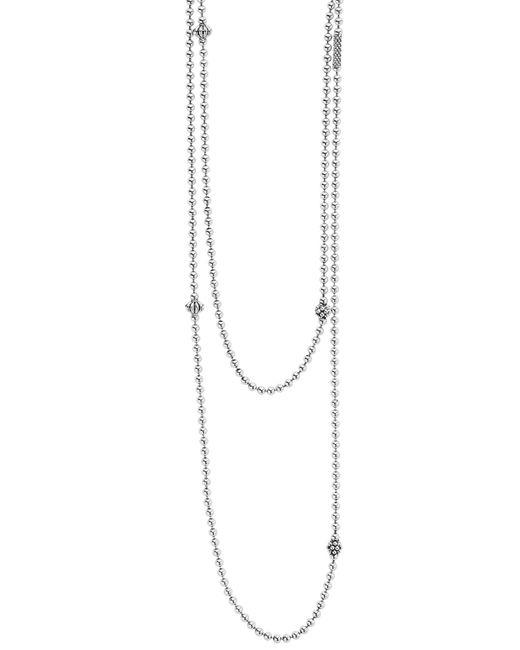 Lagos - Metallic 'caviar Icon' Strand Necklace - Lyst